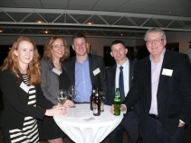Attendees at the IBNNZ evening (from left to right): Fiona McCullagh, NZTE; Michelle McKenna, NZTE; Tom Lynch, Hampton Jones; Brian Walsh, Gaelic Athletic Association, and Chris Ryan.