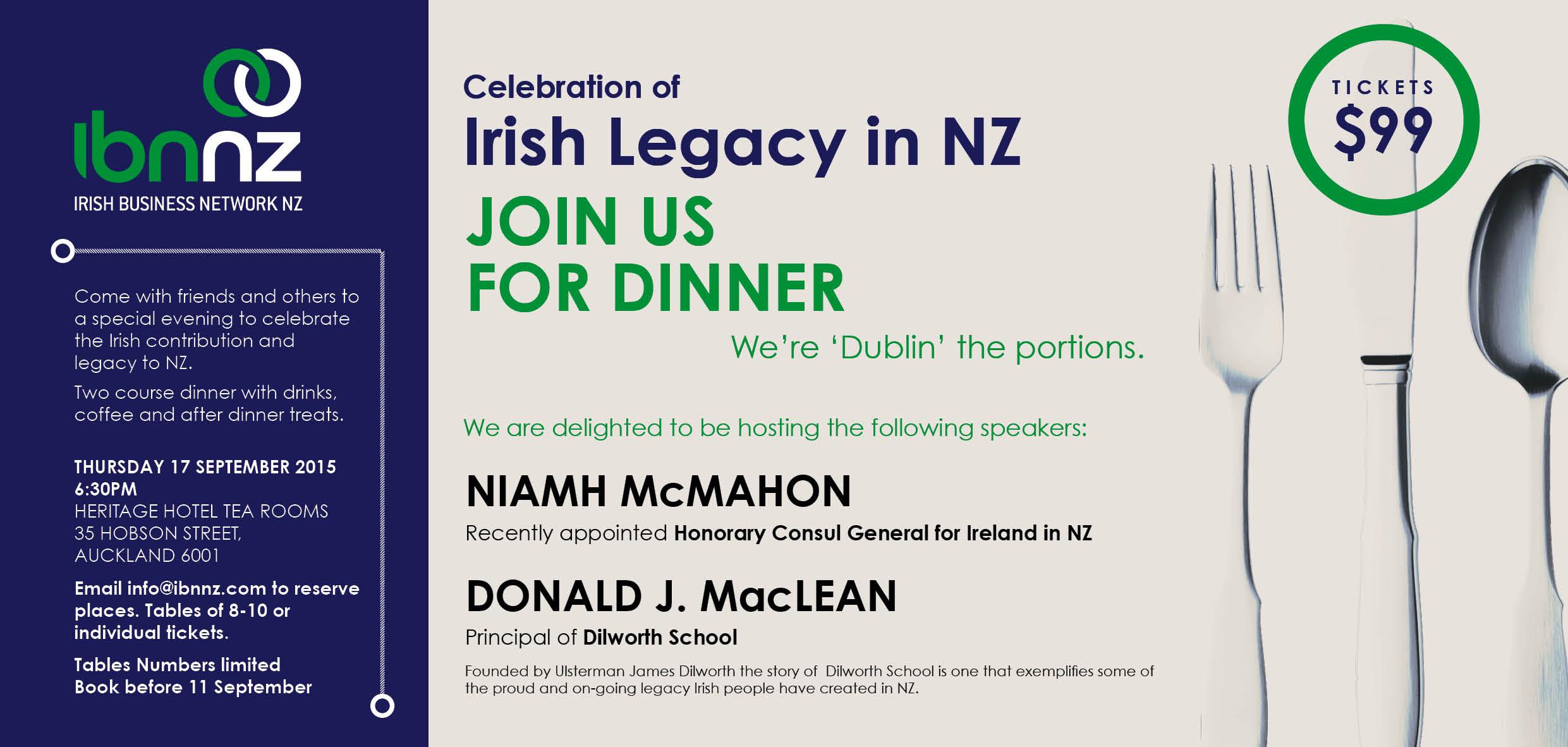 Irish Legacy Dinner